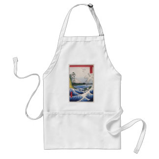 Mt Fuji viewed from water circa 1800 s Aprons