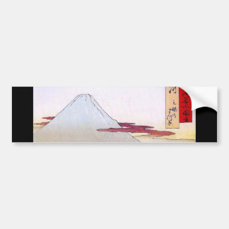Mt Fuji viewed from water circa 1800 s Bumper Stickers