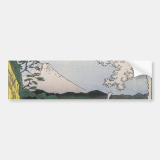 Mt Fuji viewed from water circa 1800 s Bumper Sticker