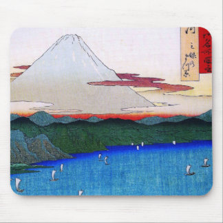 Mt Fuji viewed from water circa 1800 s Mousepad