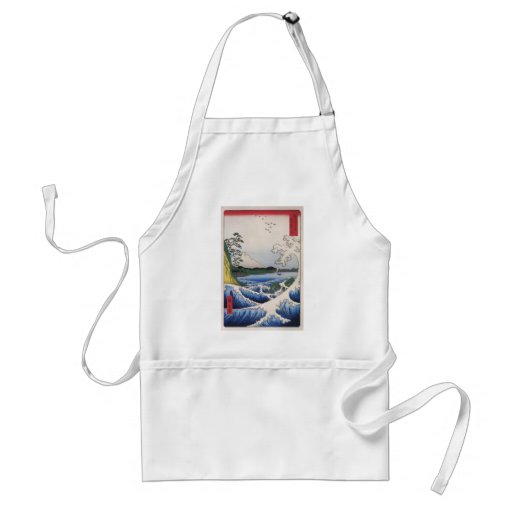 Mt. Fuji viewed from water circa 1800's Aprons