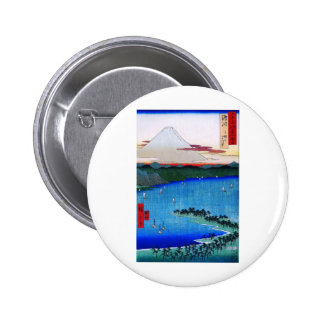 Mt. Fuji viewed from water circa 1800's Pinback Button