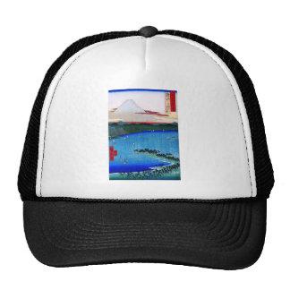 Mt. Fuji viewed from water circa 1800's Hats