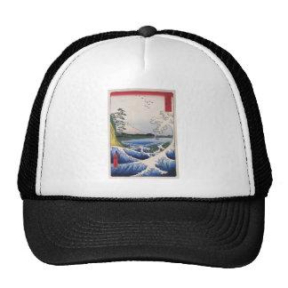 Mt. Fuji viewed from water circa 1800's Mesh Hats