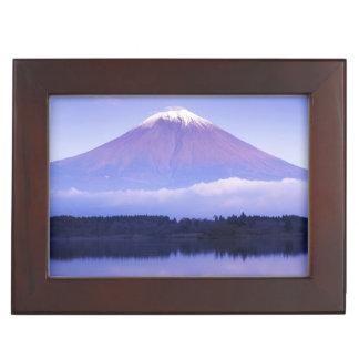 Mt. Fuji with Lenticular Cloud, Motosu Lake, Keepsake Box