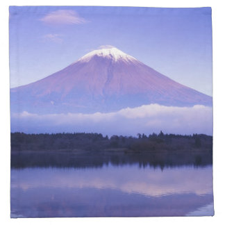 Mt. Fuji with Lenticular Cloud, Motosu Lake, Napkin