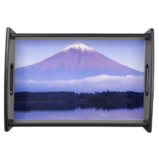 Mt. Fuji with Lenticular Cloud, Motosu Lake, Serving Tray
