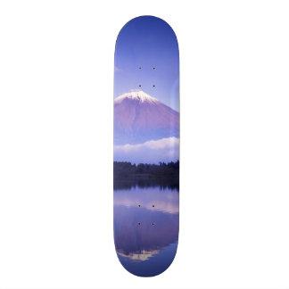 Mt. Fuji with Lenticular Cloud, Motosu Lake, Skate Board