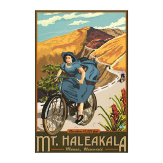 Mt. Haleakala Bicycle Rides Hawaii Canvas Print