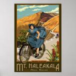 Mt. Haleakala Bicycle Rides Hawaii Poster