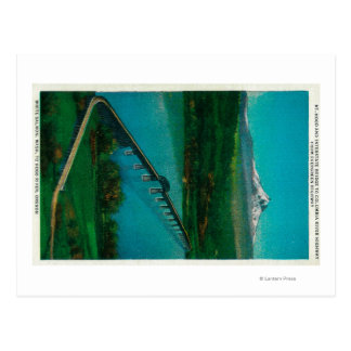 Mt. Hood and Interstate Bridge in White Salmon Postcard