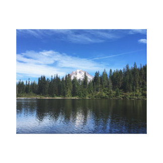Mt. Hood and Mirror Lake in Oregon Canvas Print