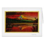 Mt. Hood at Sunrise from Lost Lake, Oregon Card
