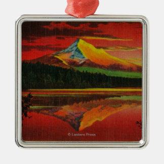 Mt. Hood at Sunrise from Lost Lake, Oregon Christmas Ornament