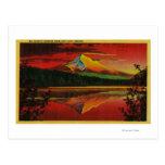 Mt. Hood at Sunrise from Lost Lake, Oregon Postcard