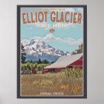 Mt Hood - Elliot Glacier Public House Poster