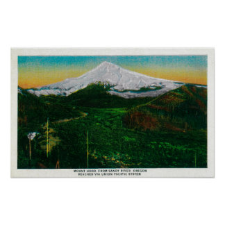 Mt Hood from Sandy River ORMt Hood OR Posters