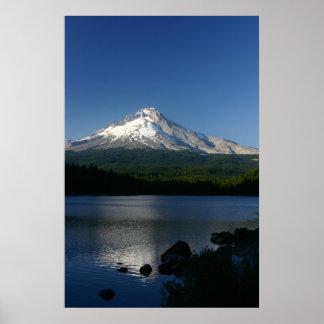 Mt. Hood from Trillium Lake Poster