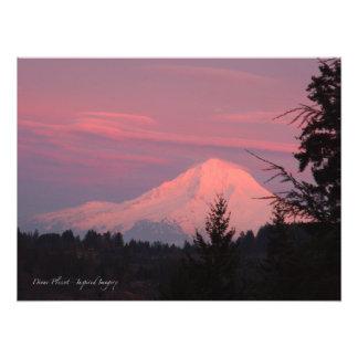 Mt.. Hood January Sunset Photo