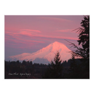 Mt.. Hood January Sunset Photo Print