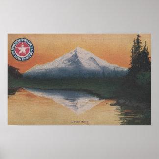 Mt. Hood, Oregon - San Francisco to Portland Poster
