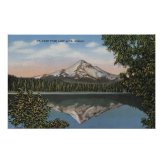Mt. Hood, Oregon - View of Mountain from Lost 2 Poster