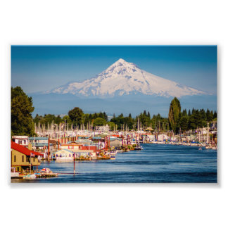 Mt.Hood over the Column\bia Photographic Print