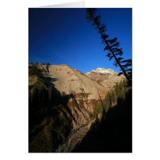 Mt Hood Through Zig Zag Canyon Greeting Cards