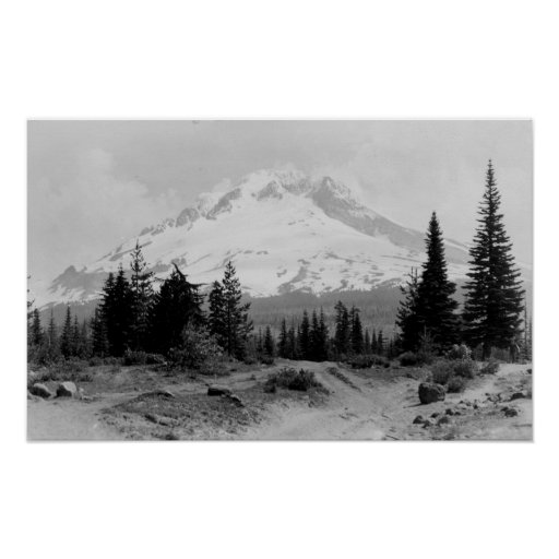 Mt. Hood View from Government Camp Photograph Print
