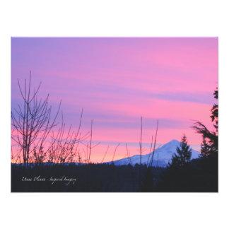 Mt. Hood Winter Sunrise Art Photo