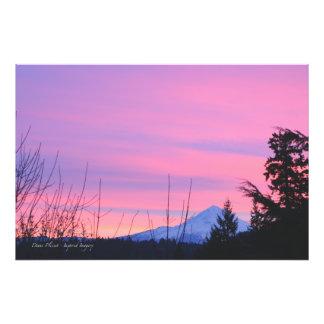 Mt. Hood Winter Sunrise Photo
