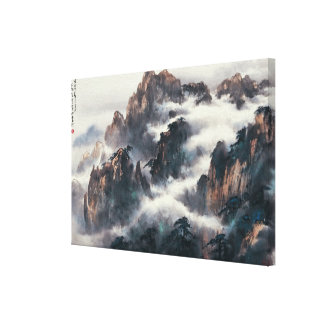 MT. HUANG SHAN CANVAS PRINT