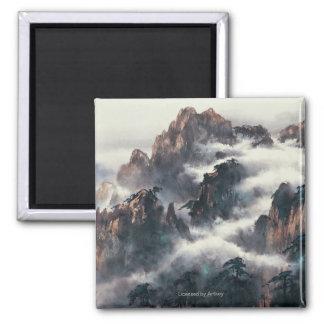 MT. HUANG SHAN SQUARE MAGNET
