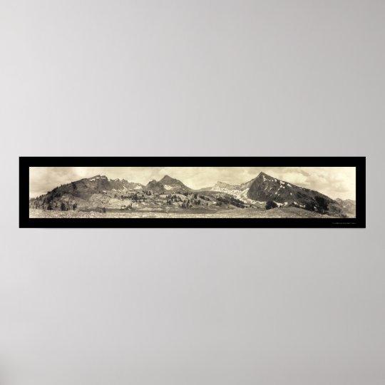 Mt Hyndman ID Photo 1911 Poster