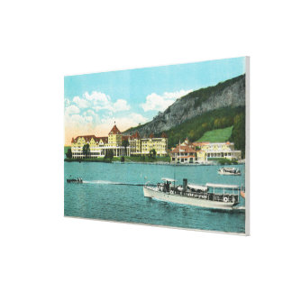 Mt Kineo House, Annex, and Yacht Club Canvas Print