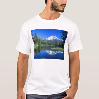 Mt. Lassen rises above Manzanita Lake T-Shirt