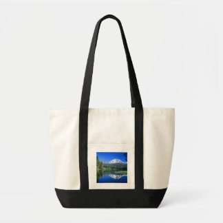 Mt. Lassen rises above Manzanita Lake Tote Bag