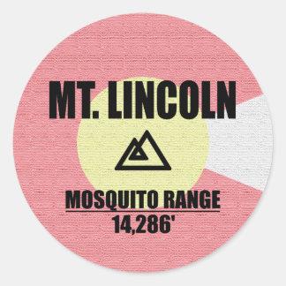 Mt. Lincoln Classic Round Sticker