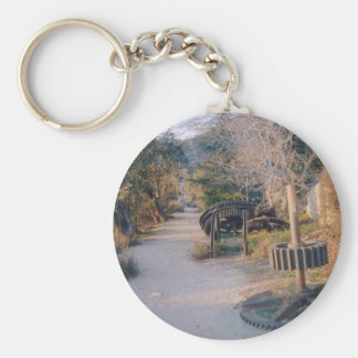 Mt Lowe Trail Basic Round Button Key Ring