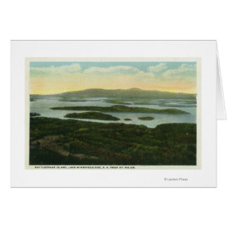Mt. Major Aerial View of Rattlesnake Island, Card