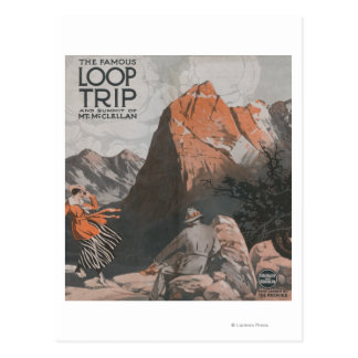 Mt. McClellan & Loop Trip Travel Poster Postcard