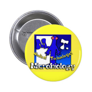 MT - MICROBIOLOGY - MEDICAL TECHNOLOGIST 6 CM ROUND BADGE
