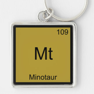 Mt - Minotaur Funny Chemistry Element Symbol Tee Key Ring