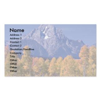 Mt. Moran, Grand Teton National Park, Wyoming Business Card Template
