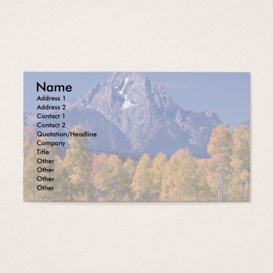 Mt. Moran, Grand Teton National Park, Wyoming Business Card
