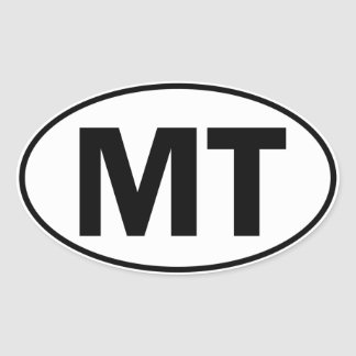 MT Oval Identity Sign Stickers
