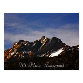 Mt. Pilatus into lucerne switzerland photo Postcard