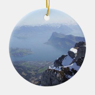 Mt. Pilatus Switzerland Christmas Ornament
