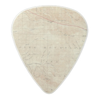 Mt Pinos quadrangle showing San Andreas Rift Acetal Guitar Pick