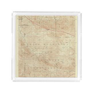 Mt Pinos quadrangle showing San Andreas Rift Acrylic Tray